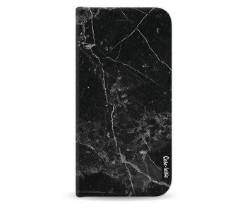 Black Marble - Wallet Case Black Samsung Galaxy J5 (2017)