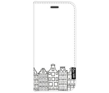 Amsterdam Canal Houses - Wallet Case White Samsung Galaxy J7 (2017)