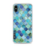 Casetastic Softcover Apple iPhone X - Aqua Moroccan Tiles