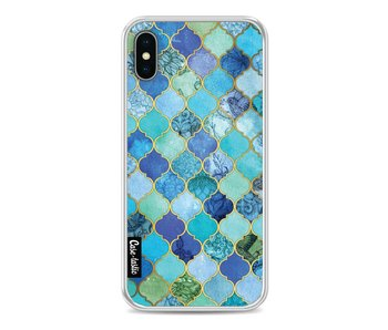 Aqua Moroccan Tiles - Apple iPhone X