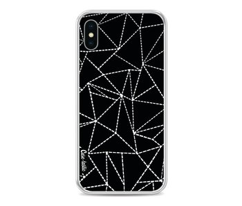 Abstract Dotted Lines Black - Apple iPhone X