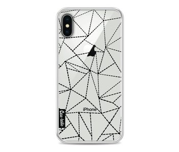 Abstract Dotted Lines Black Transparent - Apple iPhone X