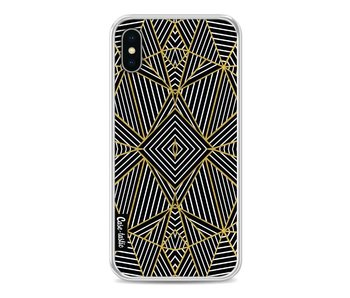 Abstraction Half Gold - Apple iPhone X