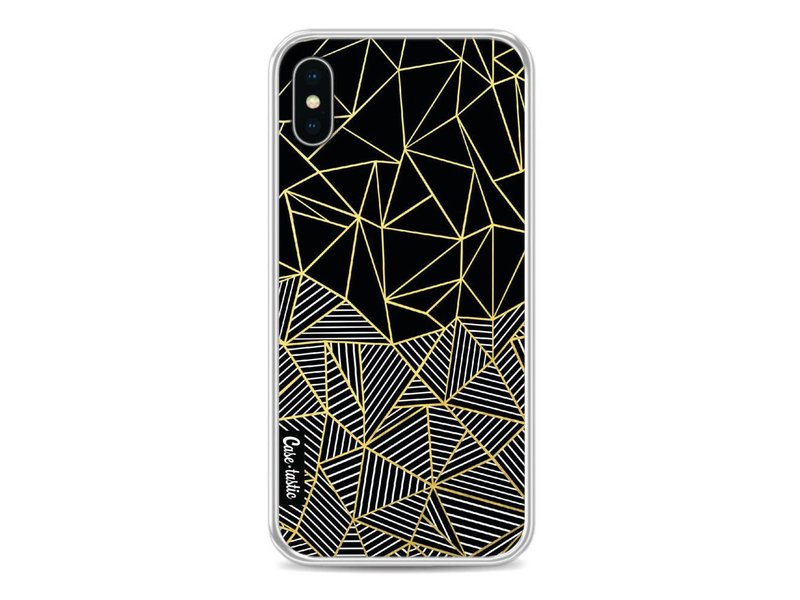 Casetastic Softcover Apple iPhone X - Abstraction Half Half Gold