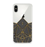 Casetastic Softcover Apple iPhone X - Abstraction Half Transparent