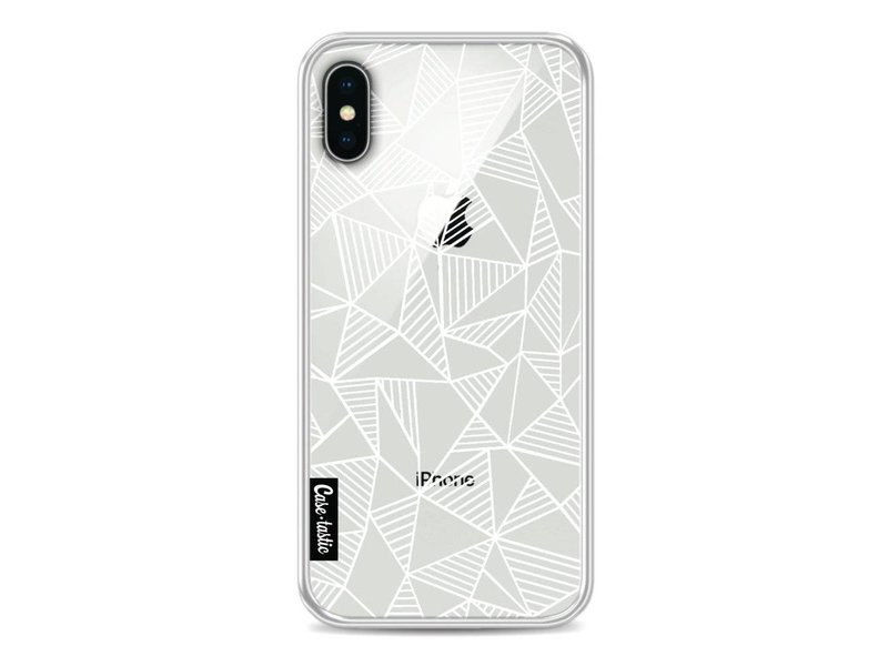 Casetastic Softcover Apple iPhone X - Abstraction Lines White Transparent