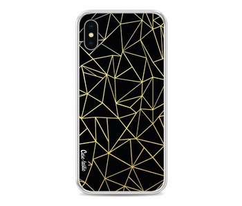 Abstraction Outline Gold - Apple iPhone X