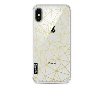 Abstraction Outline Gold Transparent - Apple iPhone X