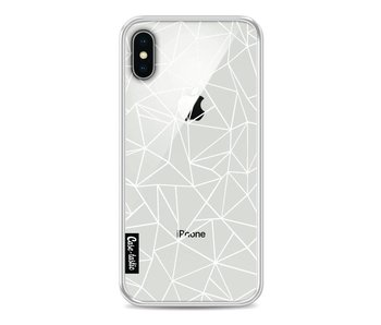 Abstraction Outline White Transparent - Apple iPhone X