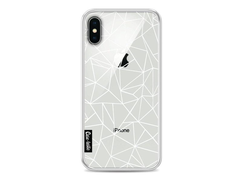 Casetastic Softcover Apple iPhone X - Abstraction Outline White Transparent