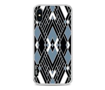 Art Deco Blue - Apple iPhone X