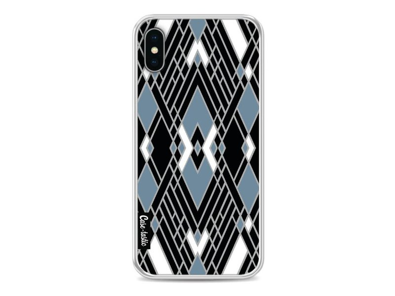 Casetastic Softcover Apple iPhone X - Art Deco Blue
