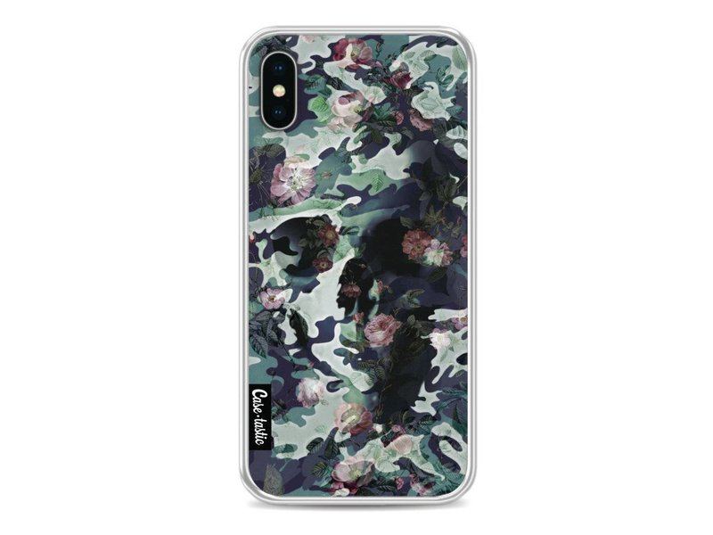 Casetastic Softcover Apple iPhone X - Army Skull