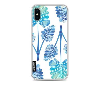 Blue Ombre Palm Leaf Trifecta Pattern - Apple iPhone X