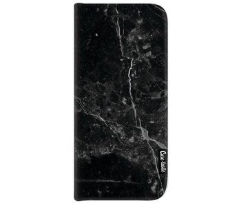 Black Marble - Wallet Case Black Samsung Galaxy J7 (2017)