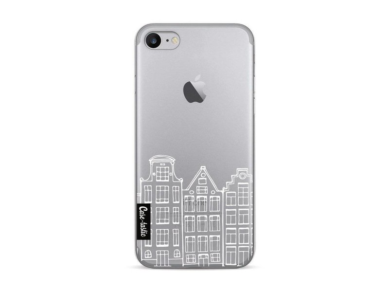 Casetastic Softcover Apple iPhone 7 / 8 - Amsterdam Canal Houses White