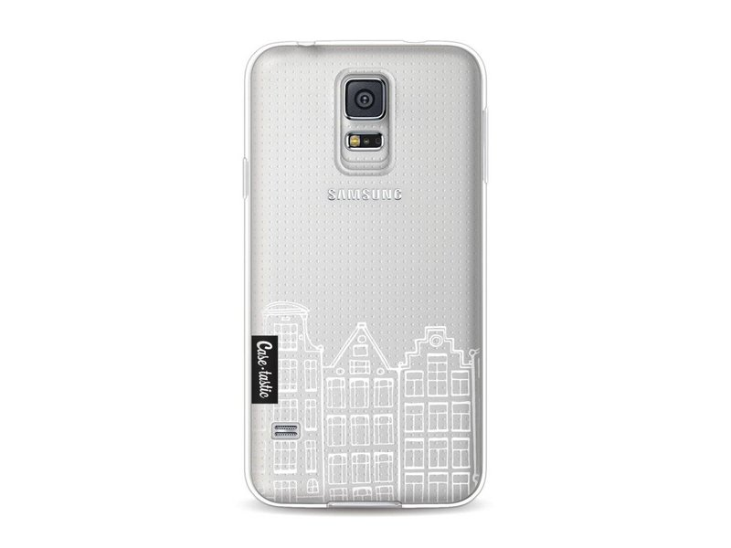 Casetastic Softcover Samsung Galaxy S5  - Amsterdam Canal Houses White