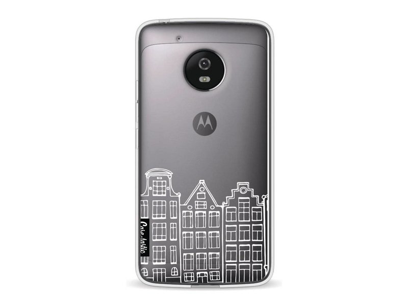 Casetastic Softcover Motorola Moto G5 - Amsterdam Canal Houses White
