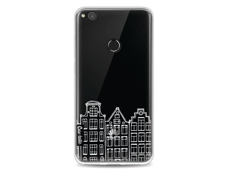 Casetastic Softcover Huawei P8 Lite (2017) - Amsterdam Canal Houses White