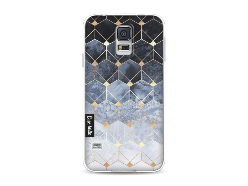 Casetastic Softcover Samsung Galaxy S5  - Blue Hexagon Diamonds