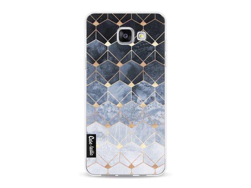 Casetastic Softcover Samsung Galaxy A5 (2016) - Blue Hexagon Diamonds