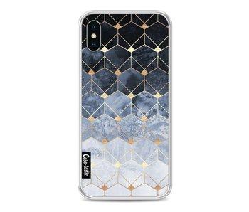 Blue Hexagon Diamonds - Apple iPhone X