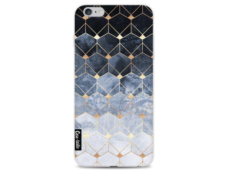 Casetastic Softcover Apple iPhone 6 Plus / 6s Plus - Blue Hexagon Diamonds