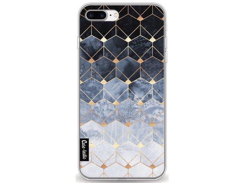 Casetastic Softcover Apple iPhone 7 Plus / 8 Plus - Blue Hexagon Diamonds