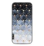 Casetastic Softcover Samsung Galaxy J7 (2017) - Blue Hexagon Diamonds