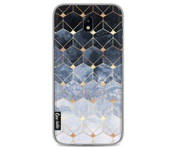 Blue Hexagon Diamonds - Samsung Galaxy J7 (2017)