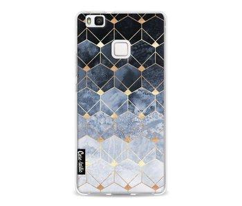 Blue Hexagon Diamonds - Huawei P9 Lite