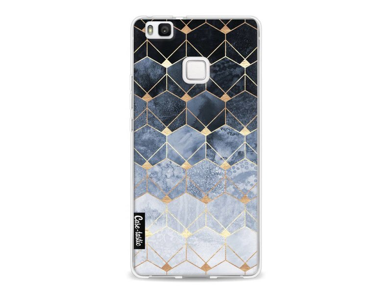 Casetastic Softcover Huawei P9 Lite - Blue Hexagon Diamonds