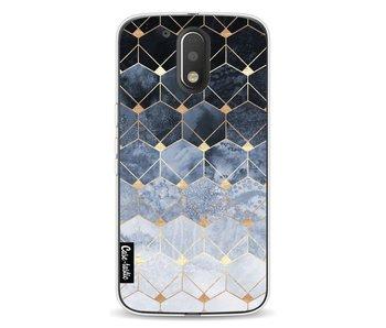 Blue Hexagon Diamonds - Motorola Moto G4 / G4 Plus