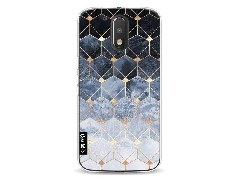 Casetastic Softcover Motorola Moto G4 / G4 Plus - Blue Hexagon Diamonds