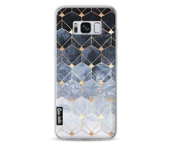 Blue Hexagon Diamonds - Samsung Galaxy S8