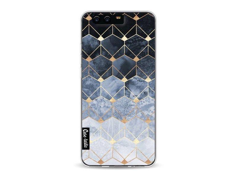 Casetastic Softcover Huawei P10 - Blue Hexagon Diamonds