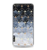 Casetastic Softcover Huawei P8 Lite (2017) - Blue Hexagon Diamonds