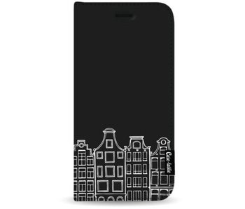 Amsterdam Canal Houses White - Wallet Case Black Apple iPhone 7 Plus / 8 Plus