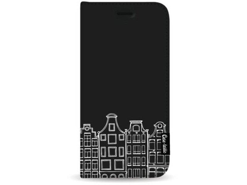 Casetastic Wallet Case Black Apple iPhone 7 Plus / 8 Plus - Amsterdam Canal Houses White