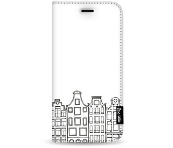Amsterdam Canal Houses - Wallet Case White Apple iPhone 7 Plus / 8 Plus