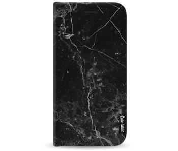 Black Marble - Wallet Case Black Motorola Moto G5