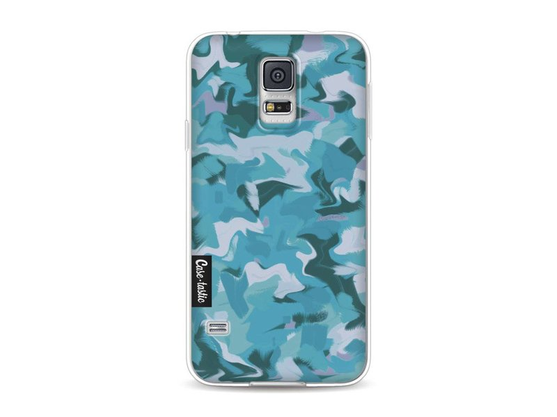 Casetastic Softcover Samsung Galaxy S5  - Aqua Camouflage