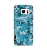 Casetastic Softcover Samsung Galaxy S7 - Aqua Camouflage