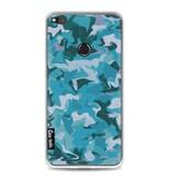 Casetastic Softcover Huawei P8 Lite (2017) - Aqua Camouflage