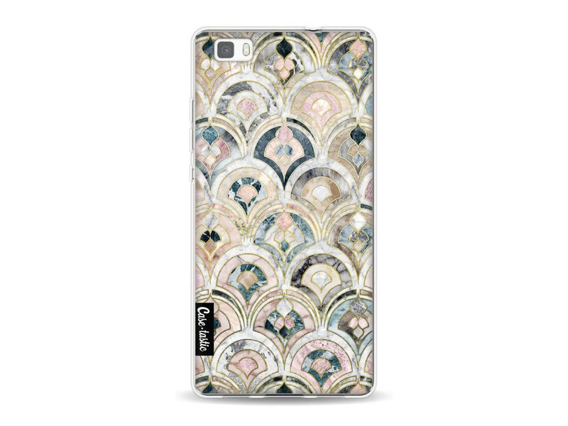 Casetastic Softcover Huawei P8 Lite - Art Deco Marble Tiles