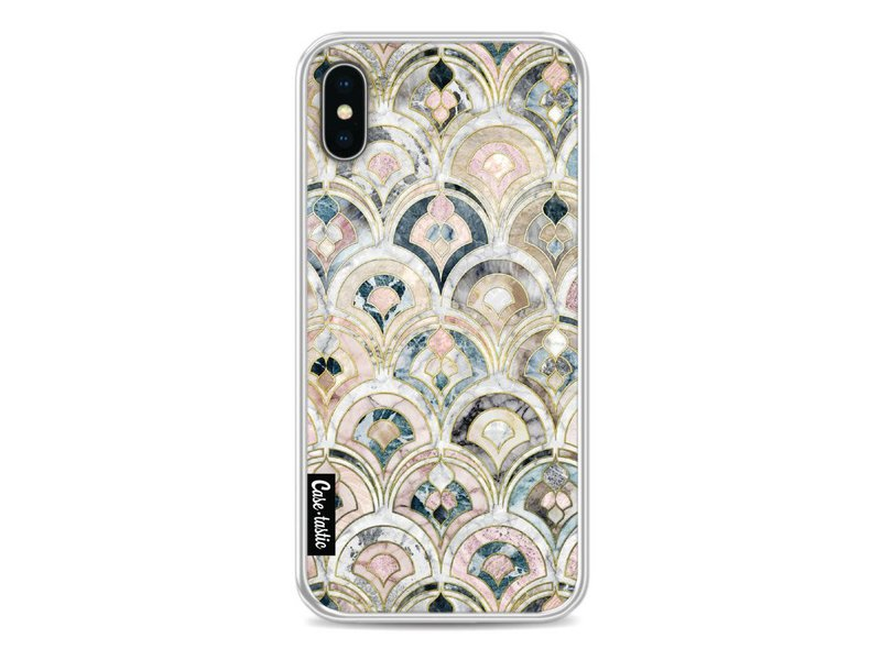 Casetastic Softcover Apple iPhone X - Art Deco Marble Tiles