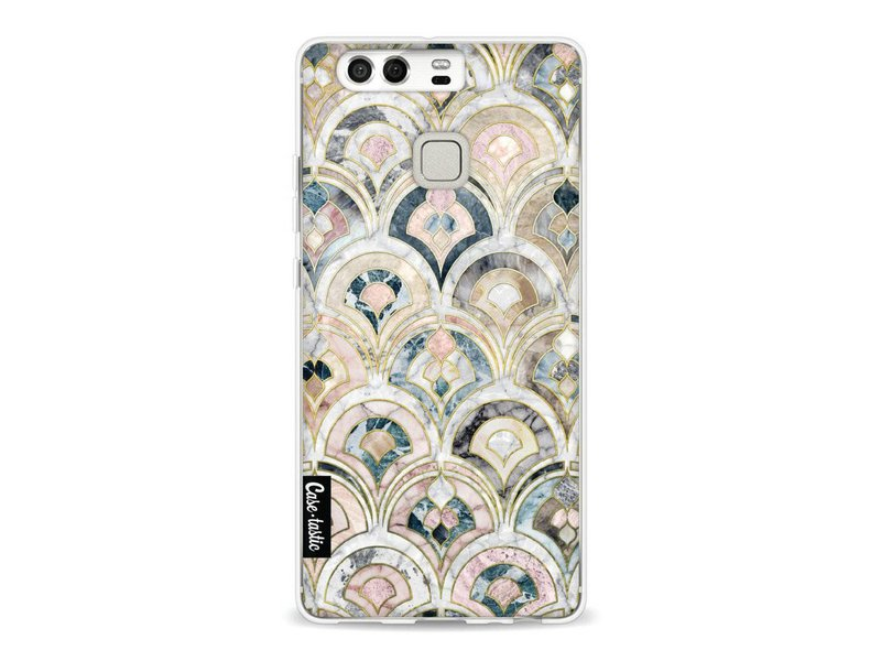 Casetastic Softcover Huawei P9 - Art Deco Marble Tiles