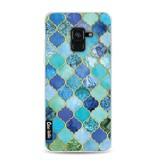 Casetastic Softcover Samsung Galaxy A8 (2018) - Aqua Moroccan Tiles