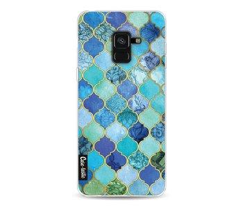 Aqua Moroccan Tiles - Samsung Galaxy A8 (2018)