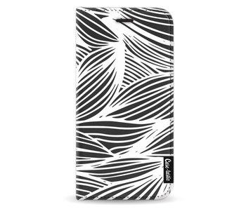 Wavy Outlines - Wallet Case Black Samsung Galaxy J3 (2017)